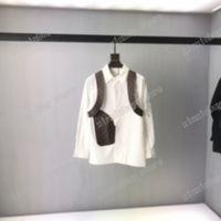 21ss Мужчины Женщины Дизайнеры T Рубашки TEE Кожаные Письмо Вышивка Жаккардовый Рукав Человек Мода Улица Люквины Черный Белый S-XL