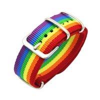 Encanto pulseras nepal arco iris lesbianas gays bisexuales transgénero para mujeres niñas orgullo tejido trenzado hombres pareja amistad joyería