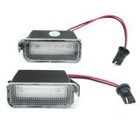 Car Rear View Cameras& Parking Sensors 2Pcs LED License Number Plate Light Lamps For Escape Ranger Kuga 1 2 C-MAX Focus 3 Ecosport Edge