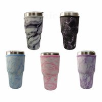 home Drinkware Handle 31 Design Print 30oz Reusable Ice Coffee Cup Sleeve Cover Neoprene Insulated Sleeves Holder Case Bags Pouch For umbler Mug Water Bottle ZC423