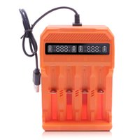 4 Slots Smart Battery Micro USB Charger with LCD display for Rechargeable 3.7v Li-ion Batteries 20700 18650 14500 16340 18500