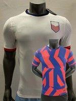 America Player версия футбола трикотаж 2021 2022 Соединенные Штаты Америки Робинсон Рейна Рапино Морган Морган Эртц Ллойд Пулисское путешествие Mckenge Heath Football US рубашка