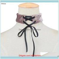 Collane Pendants JewelryHandmade Flannel Choker Collana Torques Donne Collare Collare Dichiarazione dei gioielli per l'ingrosso N1066 Giro Drop Grop Consegna