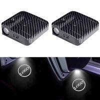 2 ADET LED Araba Kapı Logosu Ghost Işık BMW Mazda Acura Infiniti Benz Oto Amblem Lazer Projesi Hoşgeldiniz Lambası Nezaket Gölge Yeni