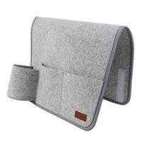 Hanging Baskets Big Deal Bedside Storage Bag Felt Organizer With Inner Pockets For Bedroom Dorm Light Grey