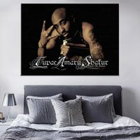 Paintings Tupac Shakur 2PAC Outlaw Rap Music Rapper Star Hip Hop Art Painting Vintage Canvas Poster Wall Home Decor