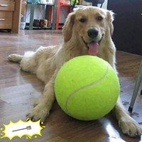 9,5 Zoll Riesige Tennisball für Hund Kauspielzeug Große aufblasbare interaktive Haustiere liefert Outdoor Cricket