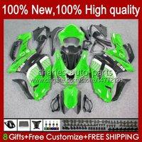 Motorcykel Fairings för Kawasaki Ninja ZX600C ZX-600 ZX 6R 6R 6 R ZX636 07-08 Bodywork 10No.4 Fabriksgrön ZX-636 600 CC ZX6R 07 08 ZX600 ZX 636 ZX-6R 2007 2008 Bodys Kit