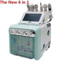 Magazzino USA nuovo 6 in 1 Portable Water Jet Skin Care Beauty Machine Acqua ossigeno Jet Water Jet Diamond Skin GRATIS DHL