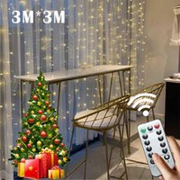 Strings Christmas Lights Led Curtain Icicle String 3M 2M 1M Droop Waterfall Outdoor Decoration For Party Garden Home Wedding