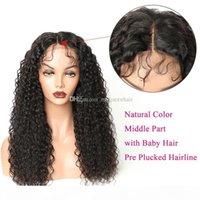 Nouveau Style 100% Cheveux vierges non transformés Perruques pleines de dentelle de couleur naturelle couleur perruque de dentelle avant cueillée