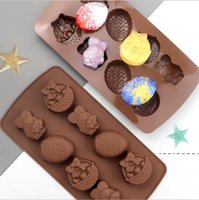 أدوات عيد الخبز عيد الفصح الشوكولاته العفن أرنب البيض الأشكال فندان قوالب هلام وحلوى 3d قوالب المطبخ أدوات الخبز للكعكة EWB5260