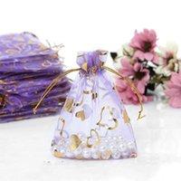 도매 400 조각 Drawable 작은 Organza 가방 10 * 12cm 호의 웨딩 크리스마스 선물 가방 보석 포장 가방 파우치 719 K2