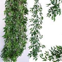 Decorative Flowers & Wreaths Artificial Willow Vine Faux Plant For Wedding Decoration Plantas Artificiales Fake Leaves Garland Rattan Lierre