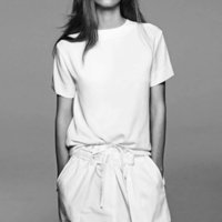 Nueva colección Boca corta Girls Algodón Esbelto Blanco Casual Casual Nice Basic Women Tea Camiseta de gran tamaño Tops de verano