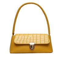 Finger Baguette Bag Crocodile Pattern Shoulder Retro Split Pu Leather Bags Solid Ladies Messenger Handbag Women