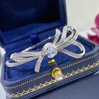 2021 Nouvelle marque chaude pure 925 sterling argent bijoux pour femmes papillon Bracelet Partie mariage bijoux de mariage bowknot bracelet