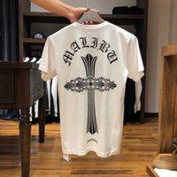 Moda Marka Ch Croxin Kısa Kollu T-shirt erkek ve kadın Aynı Baskı Gevşek Pamuk T-shirt Yuvarlak Boyun Severler Yarım Kollu T-shirt