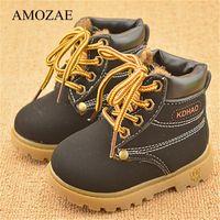 Outono inverno meninos meninas sapatos crianças mantêm botas quentes amozae criança botins botas artesanal botas de couro criança sapatos 210308