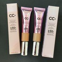 ماكياج CC + كريم مخفي يضيء بشرتك ولكن أفضل كريمات الوجه CC الأساس السائل المخفي Primer Light Medium Brighten التغطية الكاملة 32ML مستحضرات التجميل