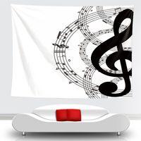 الجدة الفن الموسيقى ملاحظة نمط نسيج شنقا الجدار البطانيات ضوء الوزن البوليستر النسيج جدار ديكور المنزل للموسيقى عاشق 210310