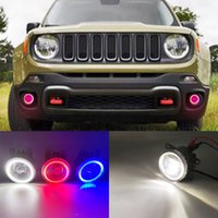 2 Funzioni LED AUTO DRL DRL Light Running Light per Jeep Renegade 2016 2017 2017 Auto Angel Eyes Fog Lampada Fogola