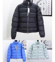 Hombres Mujeres Abajo Puffer Chaqueta Oblique Cuerpo Completo Carta Apliques Diseñador Masculino Cálido Zipper Outwear Moda Caballeros Soporte Cuello de invierno Abrigo