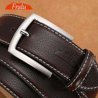 Gürtel Fralu Männer Hohe Qualität Echtes Leder Gürtel Luxus Designer Kowskin Mode Strap Männliche Jeans Für Mann Cowboy