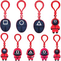 9 Styles Squid Game Keychain Toy PVC Soldier Spopular Series Are Still Missing Your Keychains Mini Doll Key Ring Car Backpack X1013C