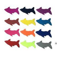 المصاصة مجموعة قابلة لإعادة الاستخدام المحمولة وظيفية القرش الإبداعية المصاصة حقيبة الثلج الجليد الأكمام حاملي الفريزر للثلج المصاصة HWD8256