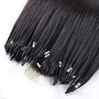 La extensión de cabello humano de Remy Nano Remy más cómodo Color rubio de color marrón negro 100s Micro Loop Beads 70 g 80g 14