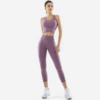 quick dry bow ribbon hip lift u neck 2 piece High waist Yoga Outfits Backless bra leggings pant joggers for women Breathable Stretch fabric Purple green red solid color