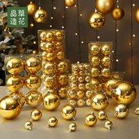 Fabrika Outlet Partisi Dekorasyon Tayvan Jinghua Çiçek 3-28 cm Altın Parlak Mat Noel Top Ürünleri Ağaç Kolye In0D