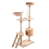 "60 ""Cat Tree Tower Tower Condo Trasser Мебель котенок домашнее животное Hous Jllhxa Sport77777"