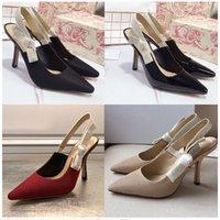 Frauen Kleid Luxurys Designer Mode Womens Schuhe Katze Plattform Mid Heel Sexy Leder Flache Unterseite Damen Hohe Sandalen Große Größe 34-42 9,5 cm