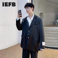 Men's Suits & Blazers IEFB 2021 Autumn Winter Casual Suit Double Button Clothes Back Split Shiny Loose Fit Korean Style Blazer Tide