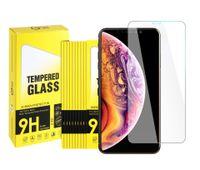 Protetores de tela de vidro temperado de alta qualidade para iPhone 12 11 Pro Max XR XS 8 7 6 Mais 0.3mm 9H 2.5D com pacote de varejo