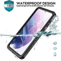 S21 Ultra impermeable Funda para Samsung Galaxy S21 S20 Plus 5G Caja a prueba de natación Cubierta de protector de pantalla incorporada para Samsung S21 Protección CAPA