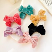 Hair Accessories 2 Pcs Set Children Cute Colors Nylon Bow Ornament Clips Baby Girls Lovely Alloy Barrettes Hairpins Kids