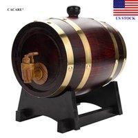 Legno di rovere di legno Barilotto di legno 1.5L Secchi di ghiaccio Vintage per Birra Whisky Rum Port Barware H0022 US Azionamento della consegna veloce