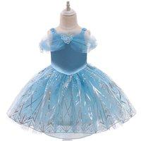 Conception robes de baptême cendrillon été manches courtes princesse fille enfants personnalisé en vente