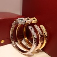 Designers Bracelets Luxury Jewelry Rose Gold Silver Bracelet Bangles for Couples Lovers Valentines Day