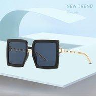 Sunglasses Vintage Brand Designer Square Oversized Women Men Transparent Gradient Sun Glasses Big Frame Eyewear UV400