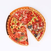Pizza Fidget Squeeze Toy Push Bubble Sensory Autism Special Needs Stress Reliever Decompression Toys for Kids Family