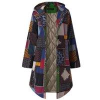 Chaquetas para mujer Chaqueta de invierno Abrigos de mujer con capucha de manga larga Vintage Vintage Fleece Fleece Botón Outwear Mujer MUJER PLOS TAMAÑO