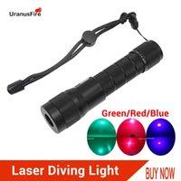 Torce torce torce laser immersioni rosso blu verde a led subacqueo torcia impermeabile 100m potente tattico scuba lampada da immersione