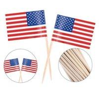 100 stücke Amerikanische Zahnstocher Flagge Cupcake Topper UK Zahnstocher Flagge Backen Kuchen Dekor Drink Bierstift Party Dekoration Liefert