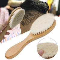Wooden Brush Comb Neck Face Duster Barber Hair Sweeping Brushes Salon Cutting Styling Tools Baby Wood Beauty Tool 1310