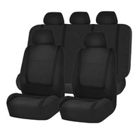 Car Seat Covers Universal Cushion Non-Rolling Up Vehicle Breathable Faux Leather Comfortable Non-Slide Stitching Color Cover 9