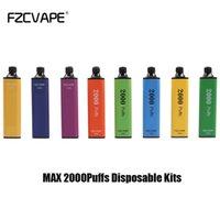 100% originale FZcvape Max E-sigarette e-sigarette E-sigarette Pod Device Kit 2000 Puffs 1000mAh Batteria 5mlPrefilled Pod cartucce Stick Vape Pen VS Gunnpod Plus XXL
